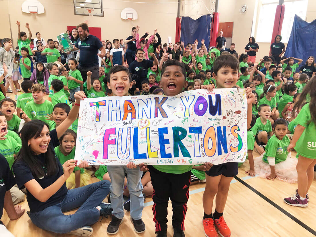 Thank you Fullerton Family Foundation